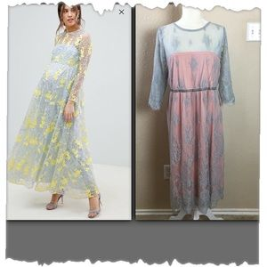 ASOS Maternity Lace Midi Dress